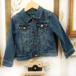 Osh Kosh Long Sleeved Jean Jacket Snaps Size 3 T